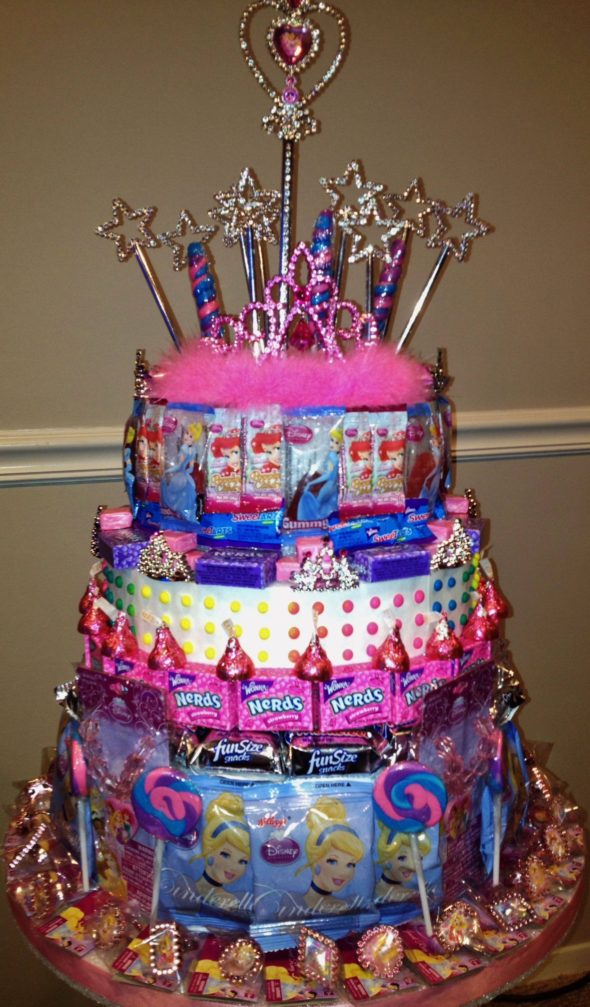 Princess Party Princess Party Candy Cake Candy Centerpieces by