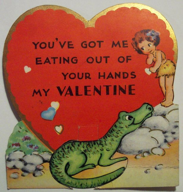Зеленый крокодил любит маленьких девочек. Открытки ко дню святого Валентина - Все интересное в искусстве и не только.