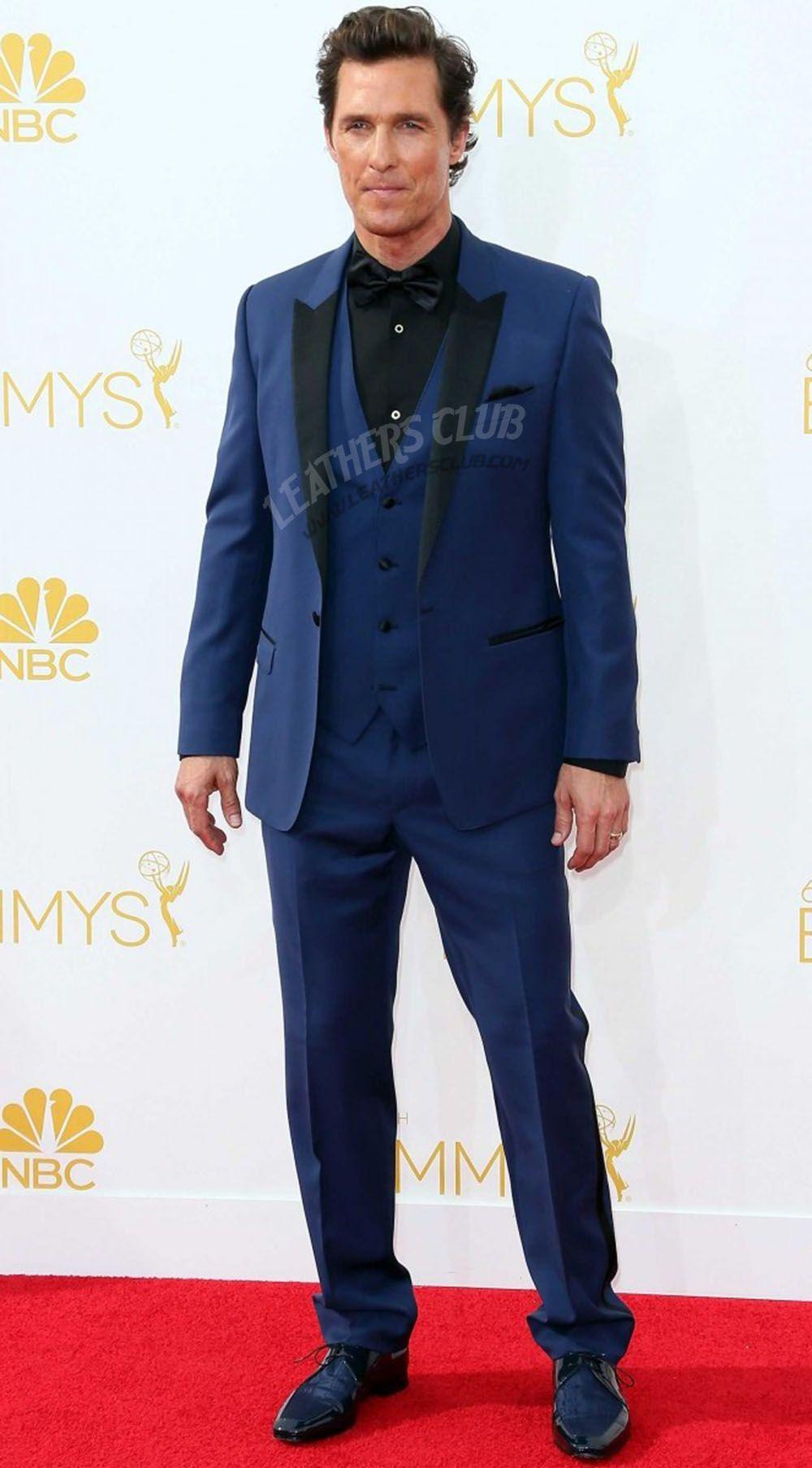 4f68f6f7539b Navy Blue Tuxedo Suit | Matthew McConaughey Suit | Navy blue tuxedos ...