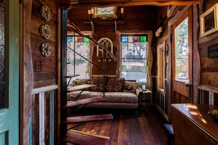 Robin Hood's Hideout—A Magical. Storybook Cottage in the Texas Hill Country   Tiny house living room. Tiny cottage. Tiny house vacation
