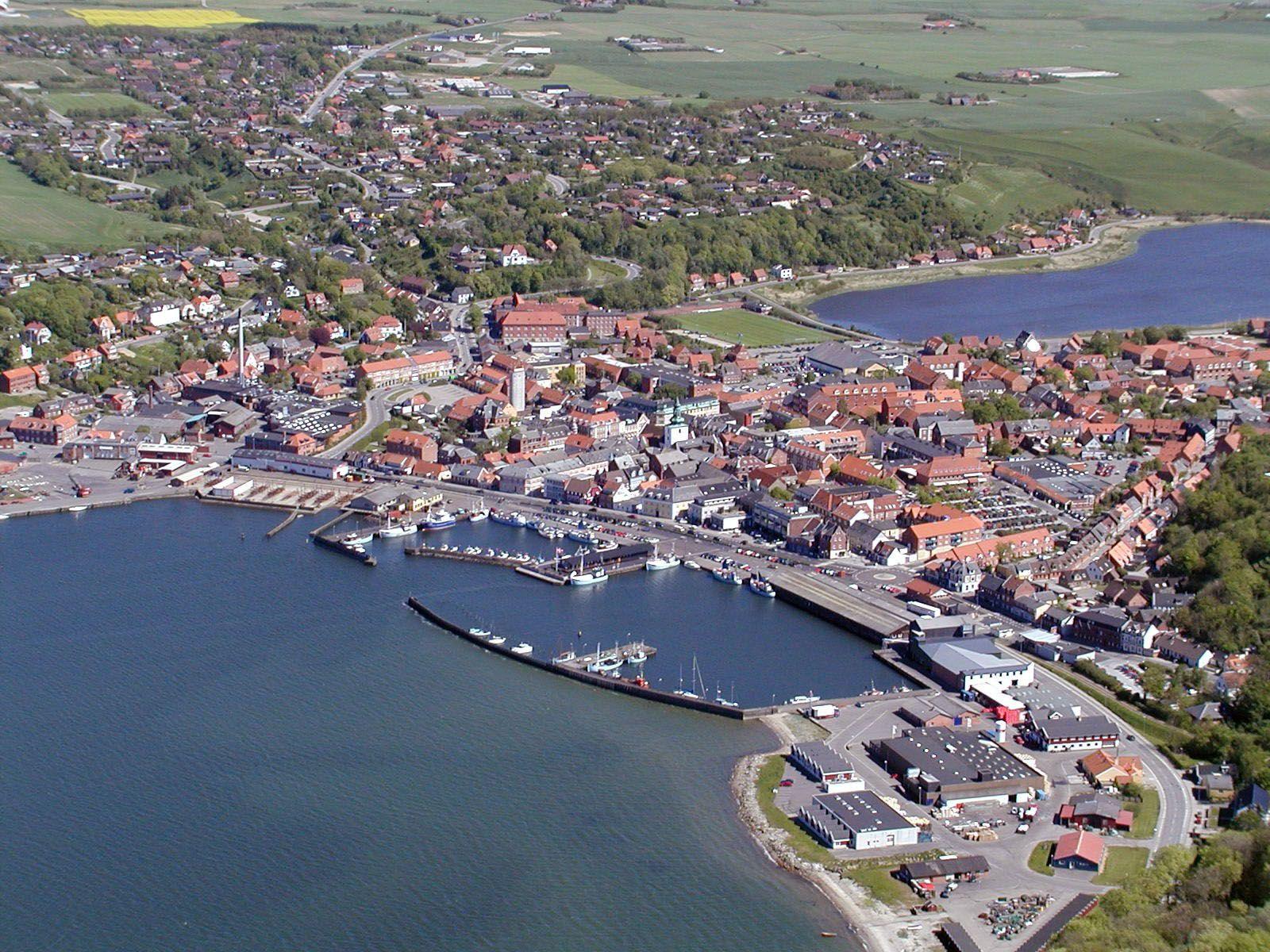 Lemvig Set Fra Fugleperspektiv Nordvest Danmark Ferie