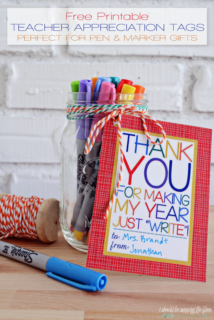 Free Printable Teacher Appreciation Tags | Printables ...