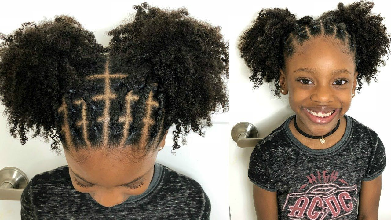 Kids Natural Hairstyles Rubber Band Protective Style On Natural Hair Video Https Blackhairi Hair Styles Natural Hair Styles Natural Hairstyles For Kids