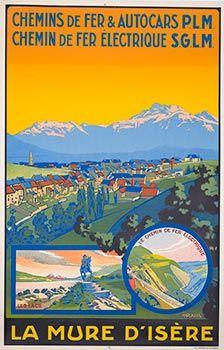 Affiche française vintage de Voyage, Classics affiche de France, Voyage français Affiches