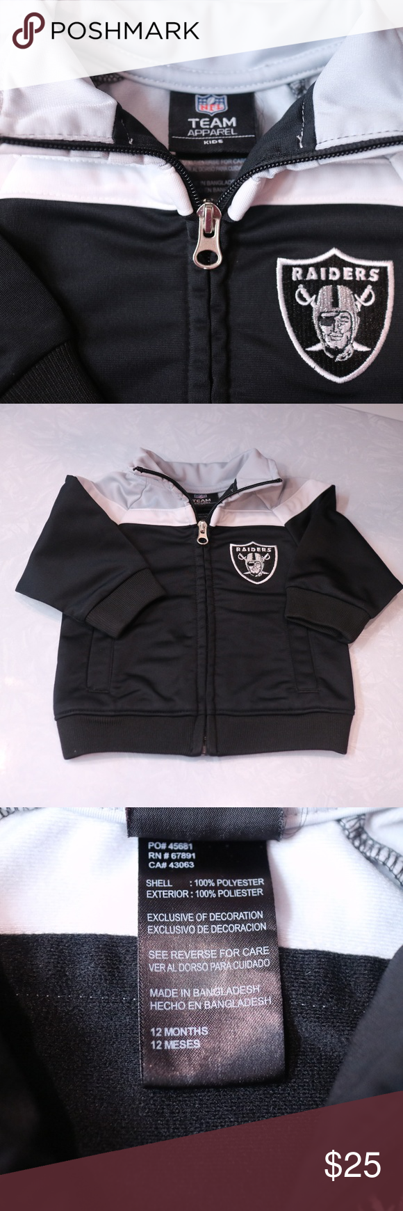 watch 58908 a9e5a NFL Apparel Raiders warmup jacket 12 months Like new ...