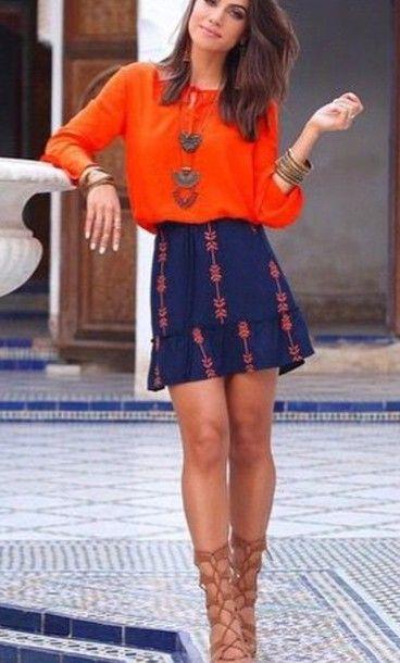 dress orange dress navy blue dress patterned dress summer dress ...