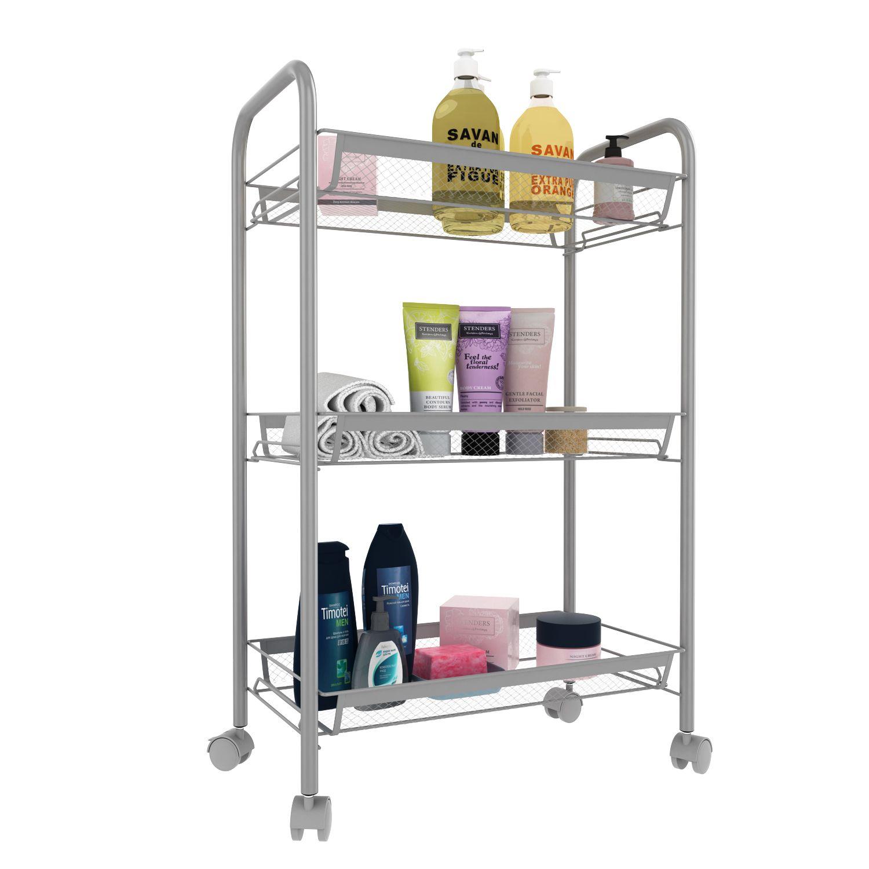 rollregal standregal für küche, badezimmer und wohnzimmer