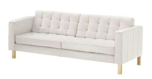 Remarkable Review The Karlstad Leather Sofa In Grann White With Birch Onthecornerstone Fun Painted Chair Ideas Images Onthecornerstoneorg