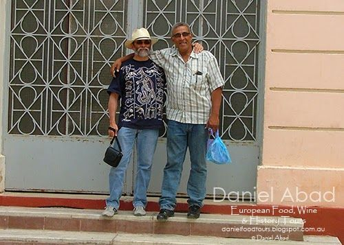 Daniel's European Food, Wine & History Tours - Kader by the Entrance of the High School we Both attended