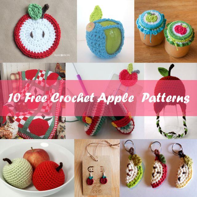 10 Free Crochet Apple Patterns Crochet Teacher Gifts Pinterest