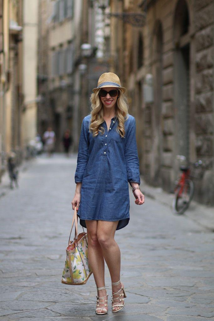 b514307441 Streets of Firenze  Denim shirt dress