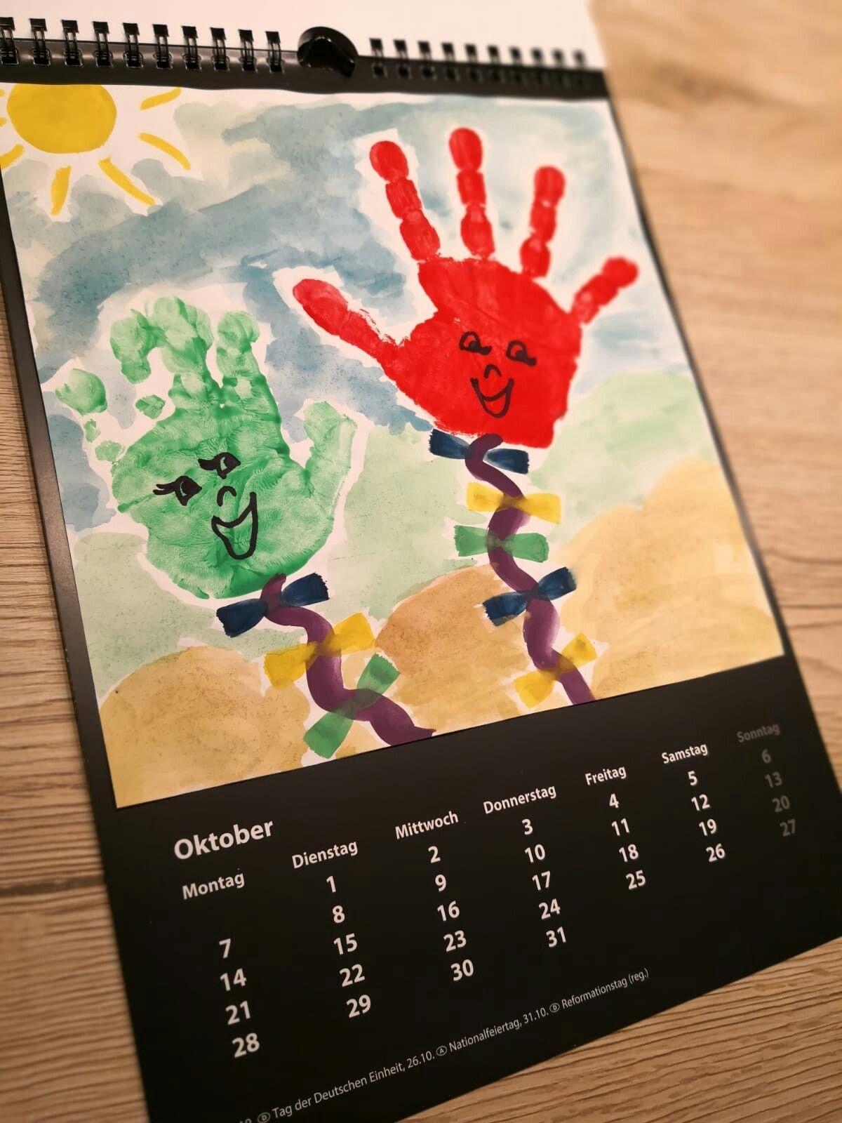 OKTOBER DIY Jahreskalender Kinder basteln kalender