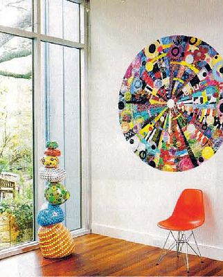 Captivating Western Interiors Magazine Mandala Made From Recycled Plastic Bags