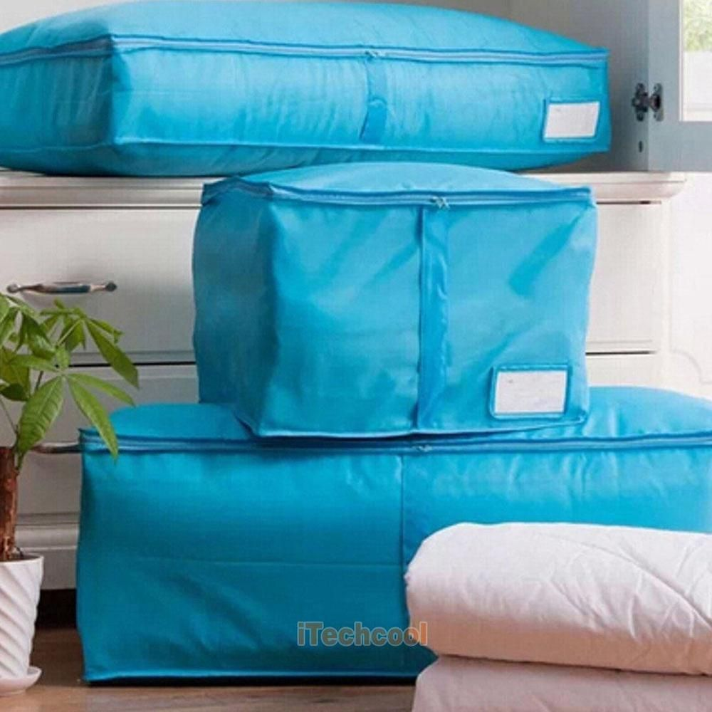 Storage Organizer Bags Zipped Box For Quilt Pillow Clothes Blanket Bedding Duvet