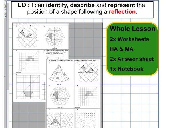 Reflection   Geometry   Position of shape   ks2 year 5 & 6 ...