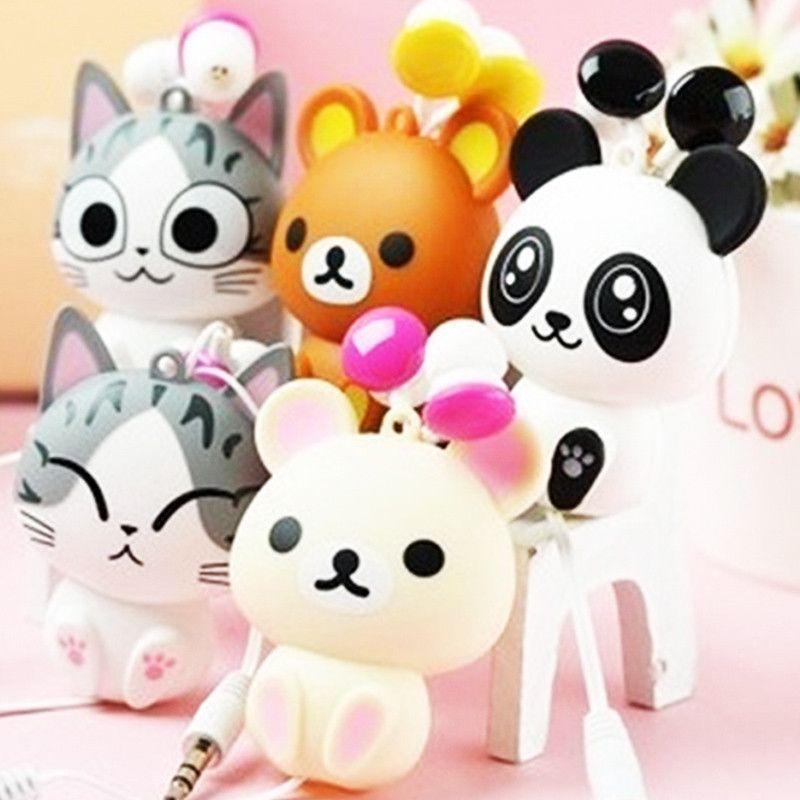 26c8016549fead Panda kitty In Ear Earphone Retractable Earphone Cartoon Automatic  Retractable Fone De ouvido