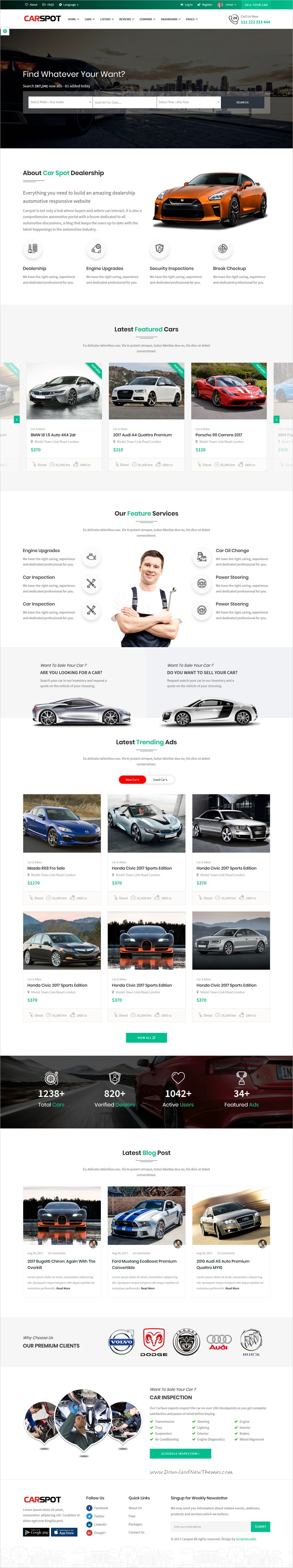 Modern Classified  Ad Listing  Car Services  Inventory
