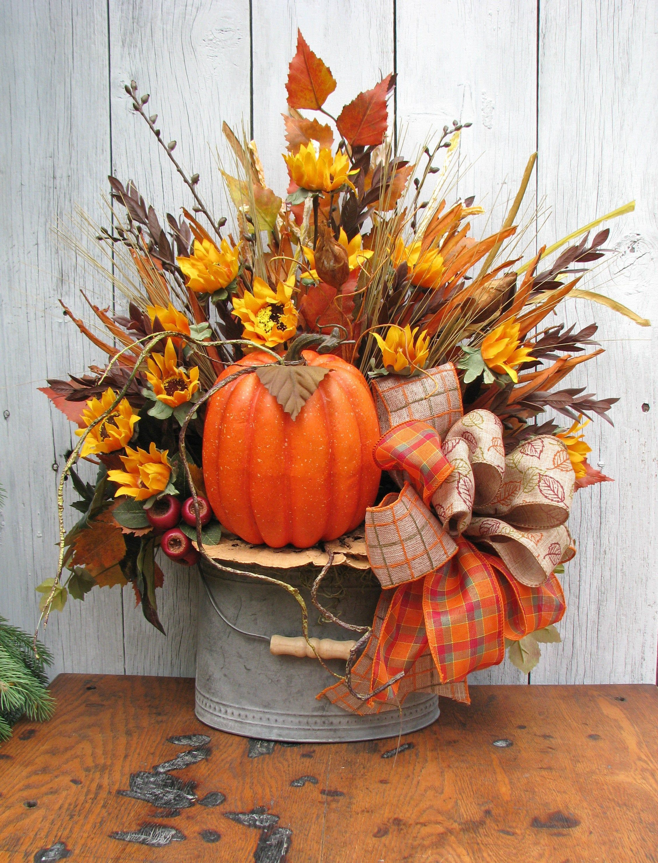 Rustic Fall Centerpiece Thanksgiving Table Centerpiece Etsy Rustic Fall Centerpieces Harvest Decorations Fall Thanksgiving Decor