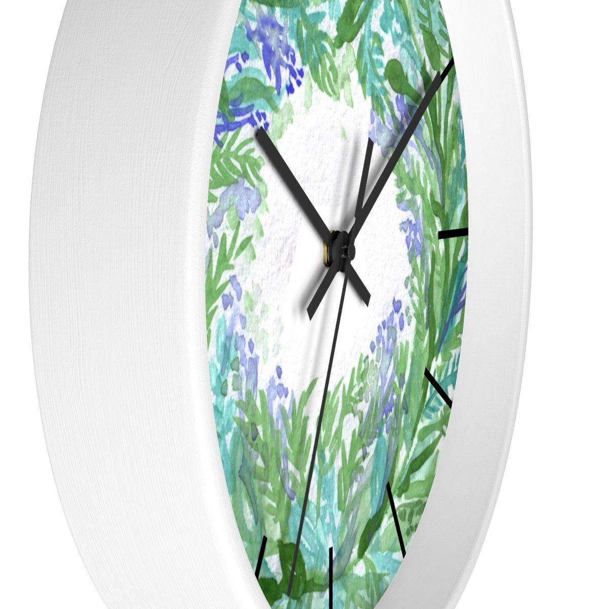 French Lavender Purple Floral Rose Print 10 Inch Diameter Wall Clock Made In Usa Wall Clock How To Make Wall Clock Lavender Walls