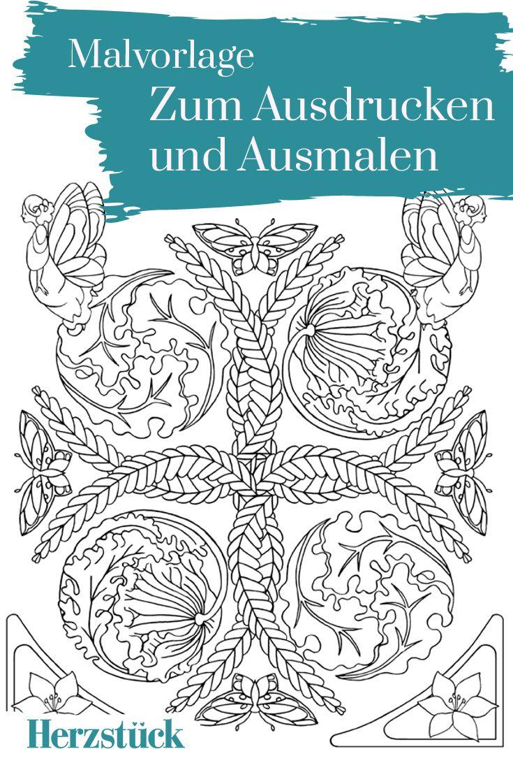 Die Ordnung der Dinge: Malvorlage aus dem Herzstück-Malbuch \