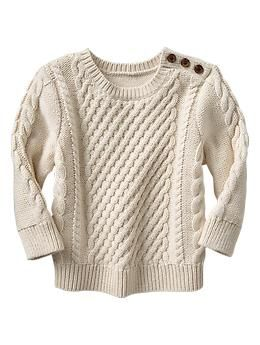 db9cb513bfedd Baby Gap: 1 of 3 piece outfit (cords, oxford shirt, cable-knit sweater). Cable  knit sweater