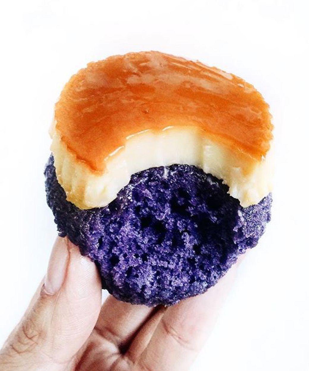 ube leche flan cupcakes backing pinterest asiatisch s und essen. Black Bedroom Furniture Sets. Home Design Ideas