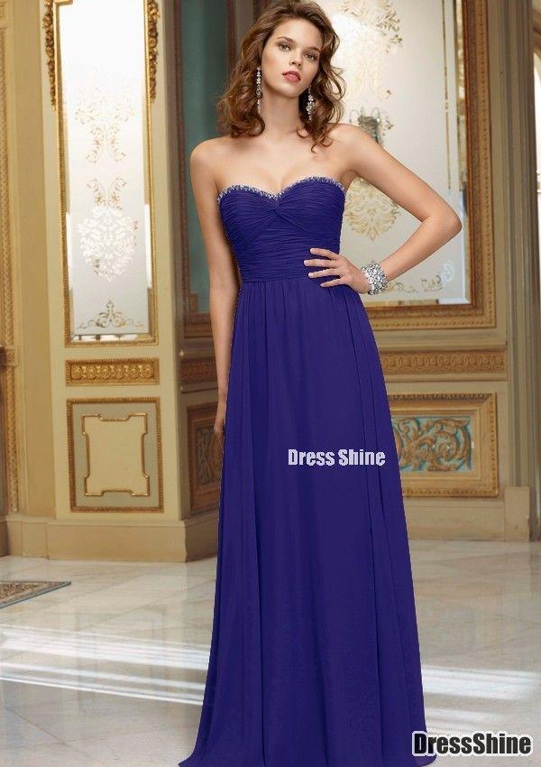 Sheath Sweetheart Floor-length Chiffon with Beading Bridesmaid Dress ...