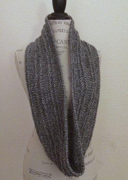 Zona Cowl Free Knitting Pattern Infinity Scarf Knitting Pattern