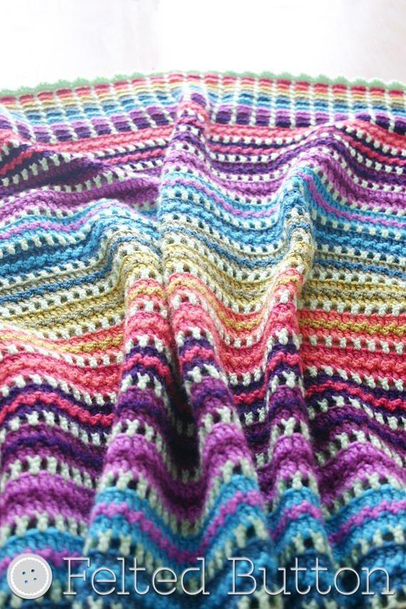 Skittles Blanket | Manta, Ganchillo y Cobija