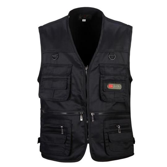 Sports Clothing Friendly Summer Mesh Vest Hunting Military Tactical Vest Breathable Multi-pocket Zipper Waistcoat Gilet Tactique Quick Dry Fishing Vests Hunting Vests