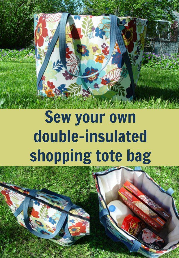 DIY Insulated Farmer's Market Tote free pattern Sewing