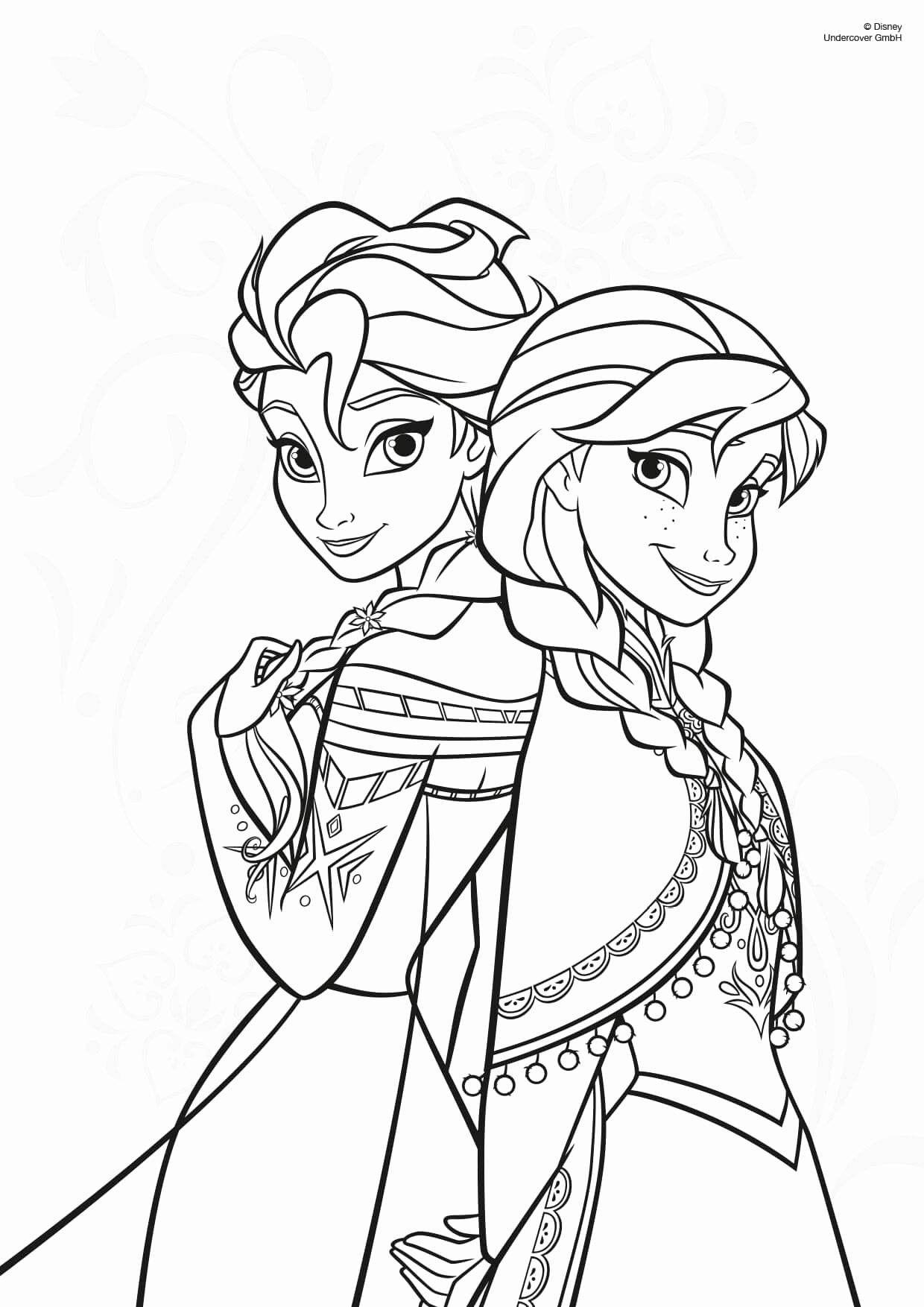 Neu Malvorlagen Anna Und Elsa Kostenlos