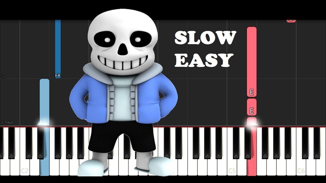 Undertale Megalovania Slow Easy Piano Tutorial Youtube