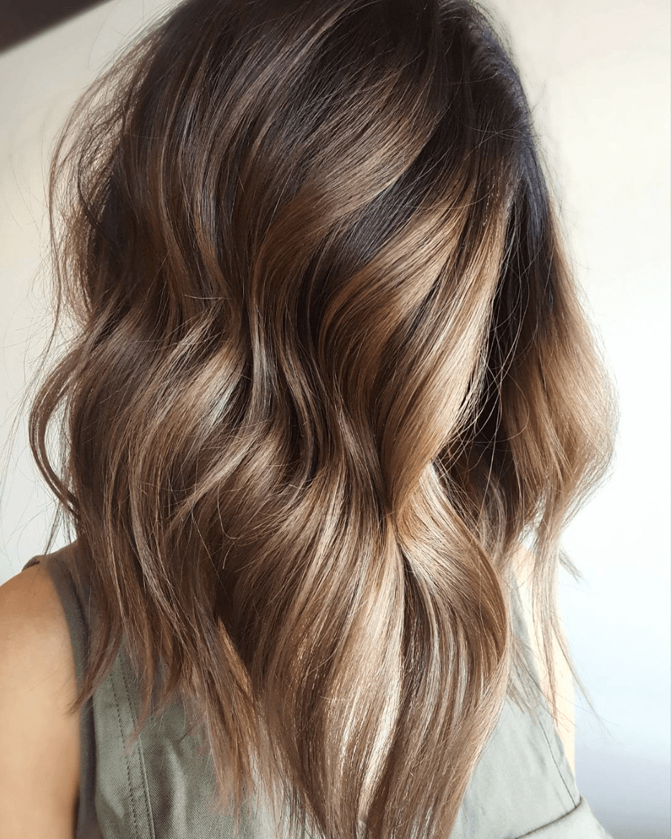 That Rich Brunette Hue That Subtle Touch Of Honey Blonde That Beautifully Blended Dimension We Love Ever Short Hair Balayage Balayage Hair Thick Hair Styles