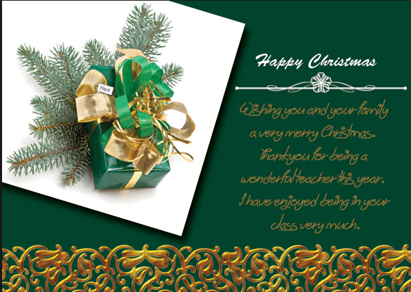Merry Christmas Wishes For Teachers 2016