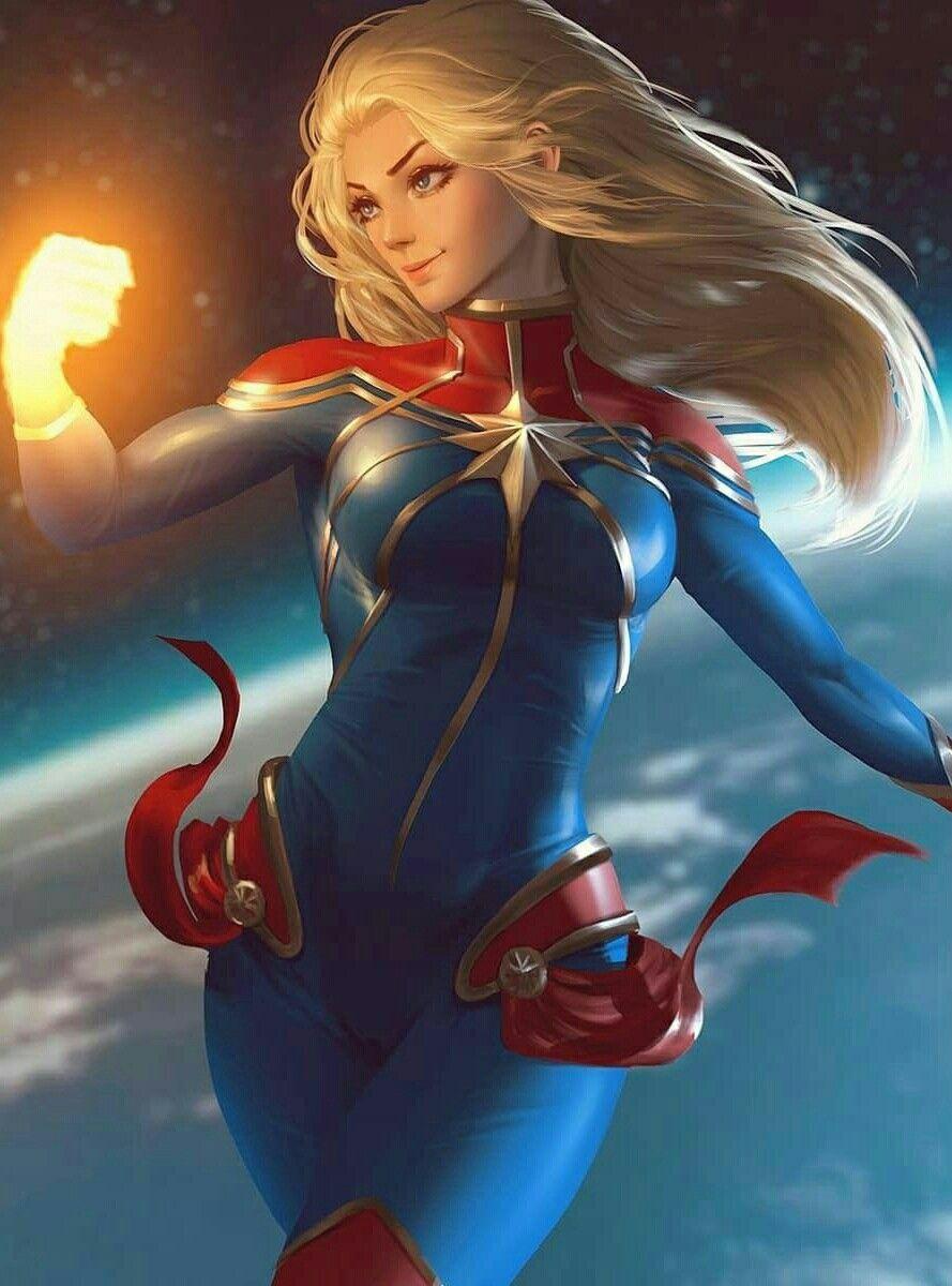 captain marvel long hair :) ❤ | film, tv, comics, cosplay