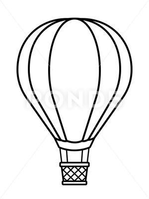 Hot Air Balloon Cartoon To Crayon Stock Illustration Ad Balloon Air Hot Cartoon Hot Air Balloon Cartoon Hot Air Balloon Drawing Hot Air Balloon