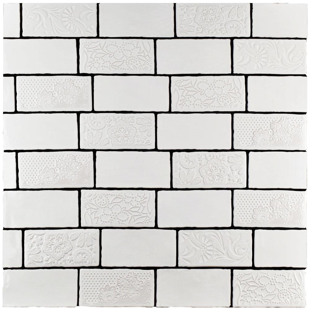 Merola Tile Antic Special Milk 3 in. x 6 in. Ceramic Wall