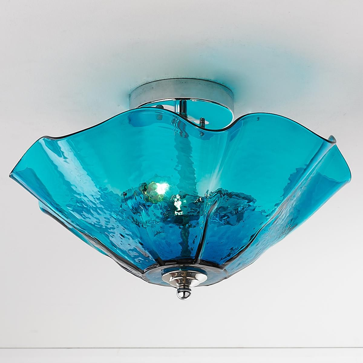 the best attitude 88abe 1cac9 Clearly Colorful Ruffled Glass Ceiling Light | Beach house ...
