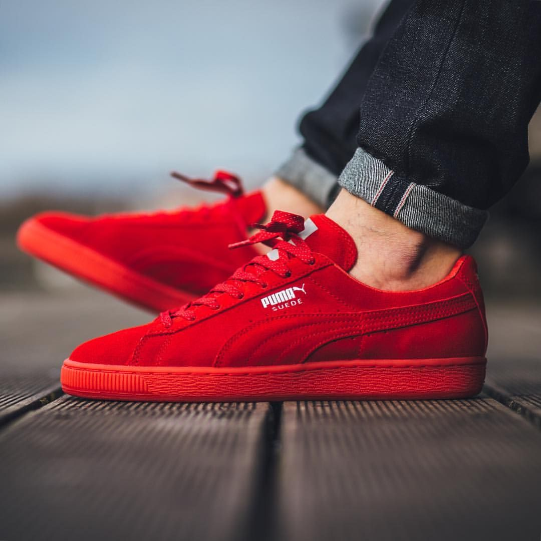 3ec0979e84 Puma Suede Classic Mono Ref Iced - High Risk Red-Puma Silver available now  in-store and online Titolo Shop Berne | Zurich US 4.5 (36.5) - US 11.5 (45)""