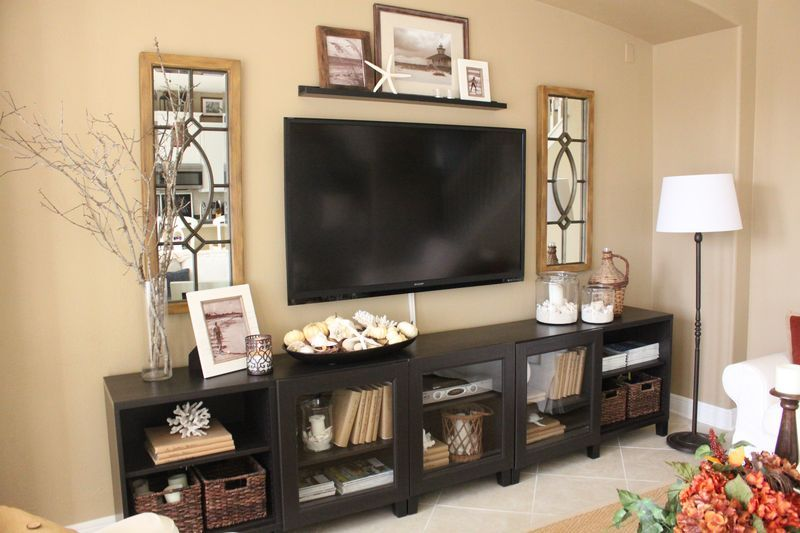 Family Room After The Big Reveal Starfish Cottage Living Room Tv Stand Living Room Without Tv Living Room Tv