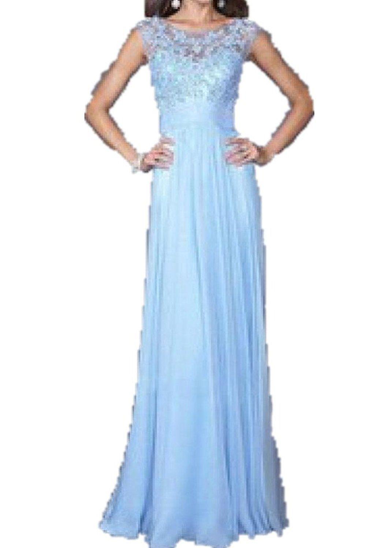 Setwell womenus sweetheart long chiffon evening dress crystal beaded
