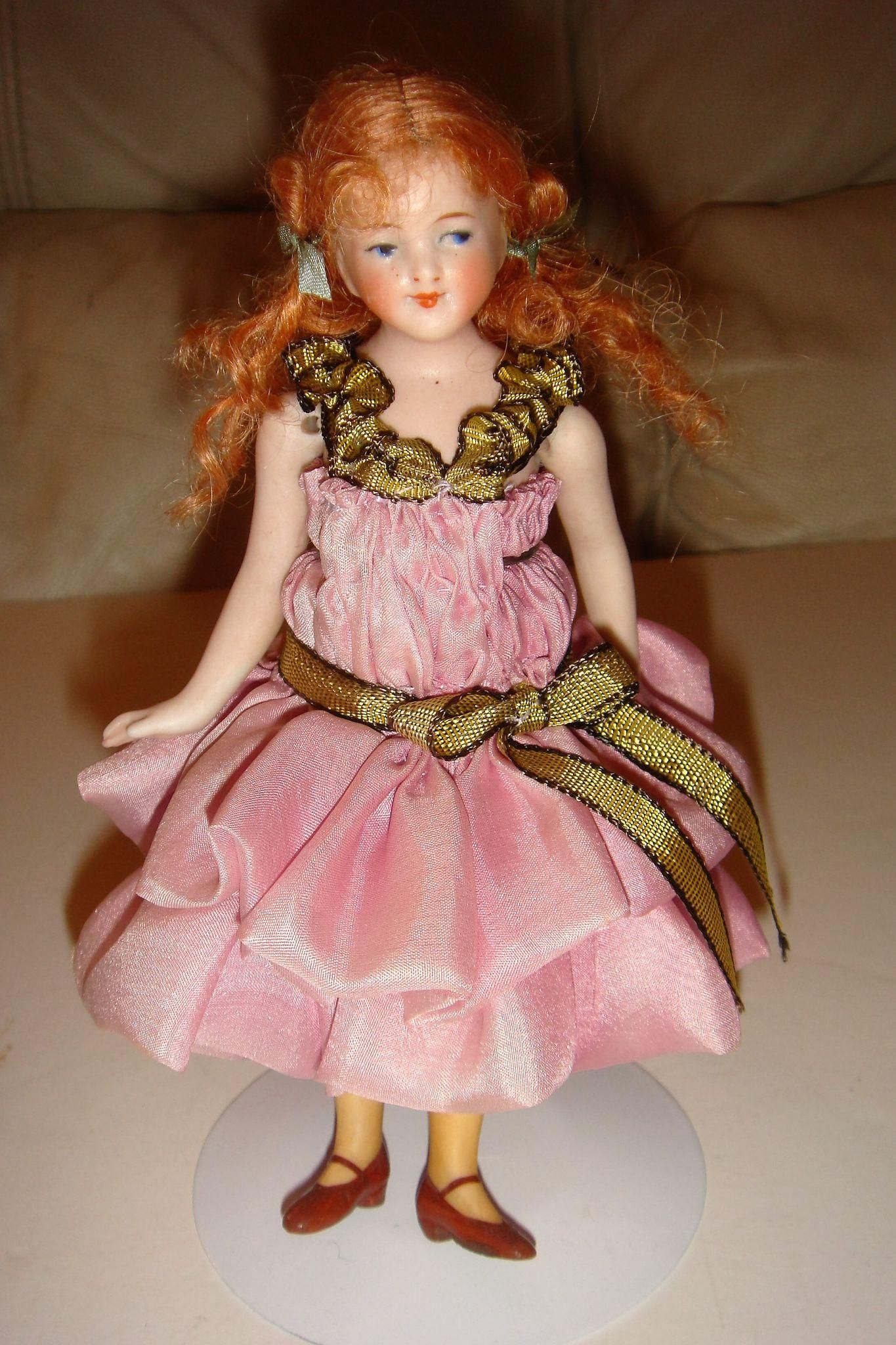 "Adorable all bisque 6"" artist doll from mychoice on Ruby Lane"