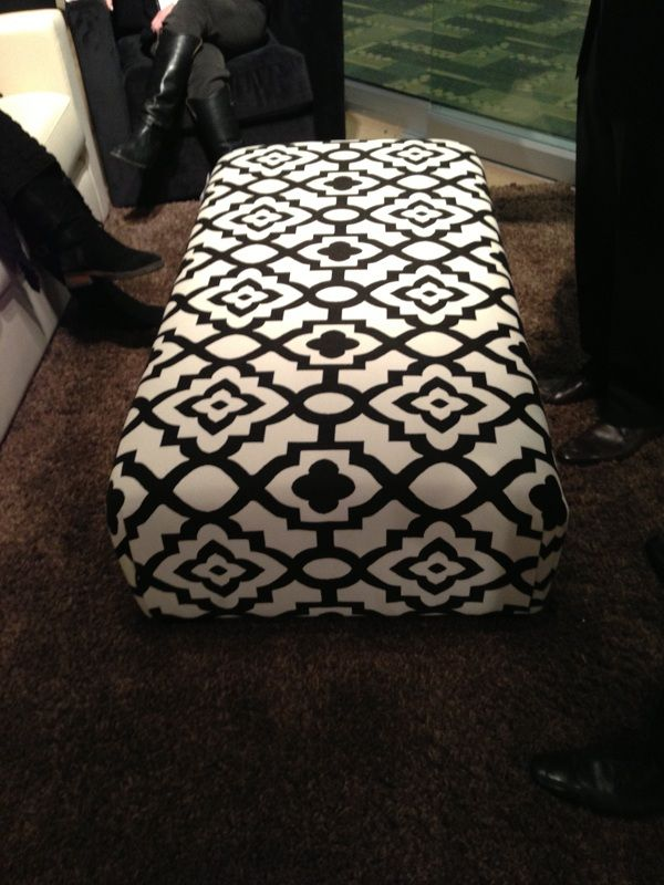 Black And White Ottoman By Stanton Furniture. // Www.KeyHomeFurnishings.com  In