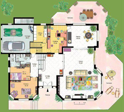 Modele Maison : Villa Thalia | CGIE | Maison Plein Pied | Pinterest | Villas