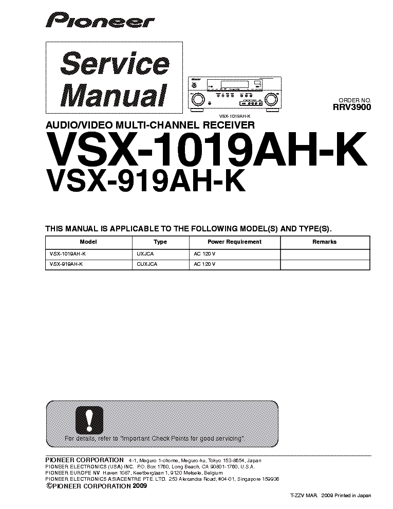 pioneer vsx 919 1019ah k sm service manual free download schematics rh pinterest com au Blip Scale User's Guide Paperwork Guide