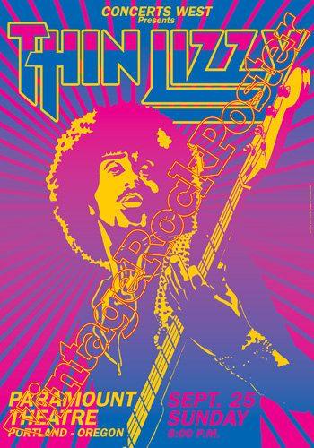 444 THIN LIZZY Portland 25 september 1977 by Mokusaiya