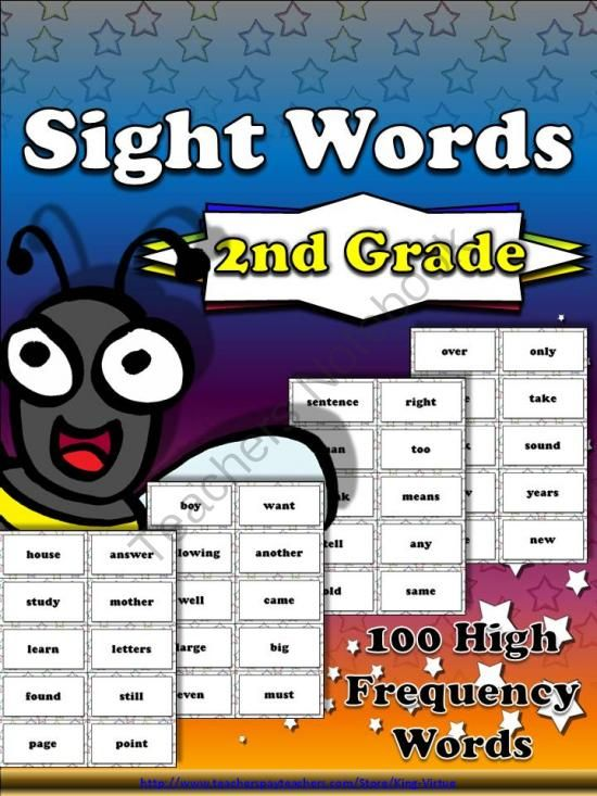 2nd grade sight words - second 100 high frequency words