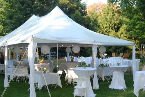 Image detail for -20x30 White Elite Tent - White Chairs