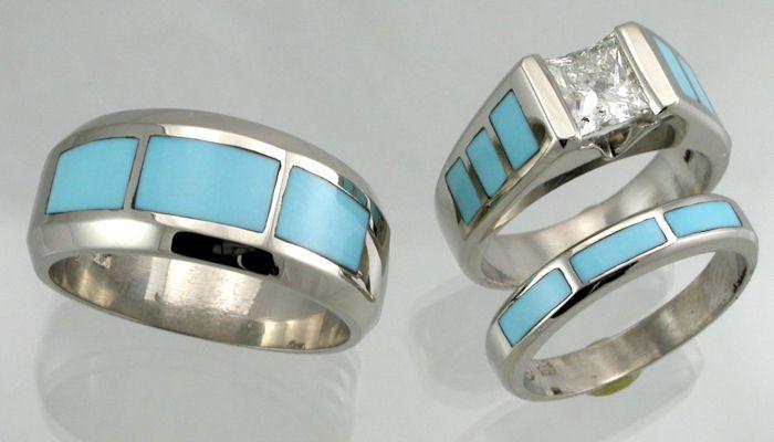 turquoise wedding rings - dream ring | Wedding | Pinterest ...